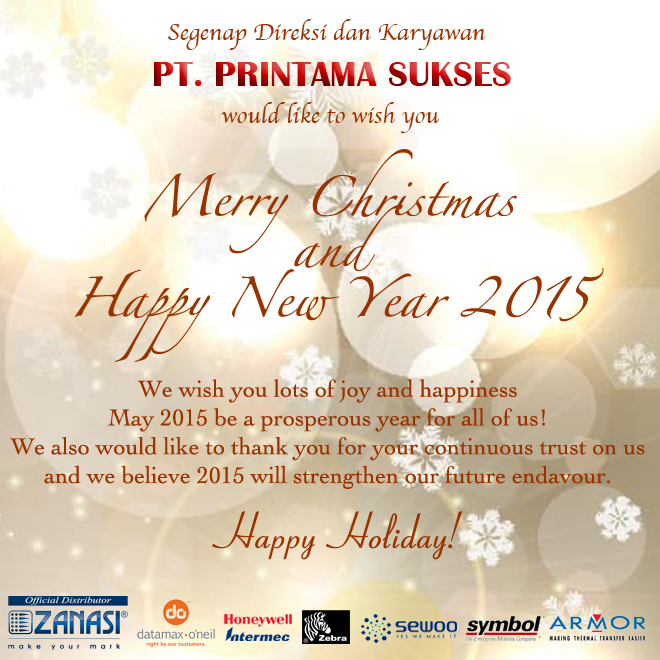 Merry Christmas and Happy New Year! - PT.Printama Sukses